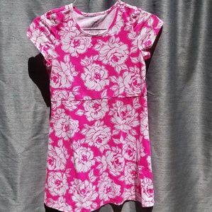 Pink/White Short Sleeve Dress XL 14/16